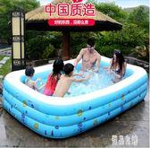 兒童充氣游泳池 加厚家庭嬰兒室內戲水池 zh3998【優品良鋪】