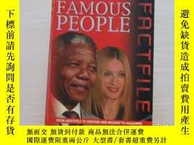 二手書博民逛書店FAMOUS罕見PEOPLE FACTFILE 軟精裝! 863
