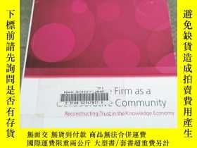 二手書博民逛書店The罕見Firm as Collaborative Commu
