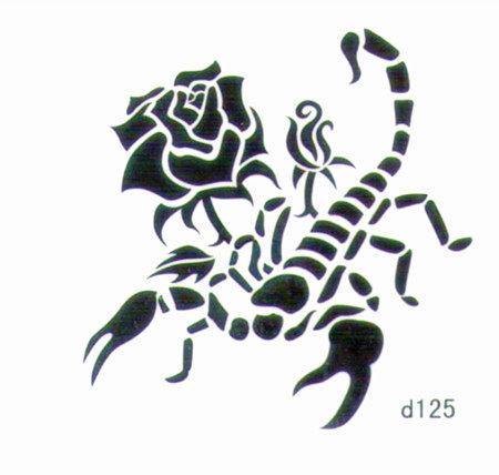 薇嘉雅 蠍子 超炫圖案紋身貼紙 d125