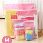✭慢思行✭【N140】霧面磨砂夾鏈收納袋(M) 防水 密封 置物 防水 洗漱 透明 加厚 防塵 衣物