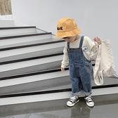 2020韓版秋新款男童女童牛仔吊帶褲中小兒童休閒褲寶寶連體長褲 【雙十二狂歡】