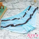 裙擺搖搖 三角彈性滑絲舒適內褲 藍格紋 ...