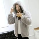 天天特價冬新款韓版仿水貂絨短款大衣女寬鬆可愛連帽加厚皮草外套 安雅家居館