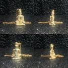 文殊菩薩 純銅24K金電鍍屬兔本命佛守護神佛像項鏈