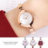 韓國KIMIO時間之眼貓眼袖扣設計金屬鍊帶手錶【WKI6296】璀璨之星☆
