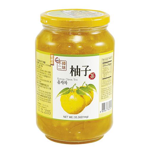 韓味不二生黃金柚子茶(果醬)1kg【愛買】