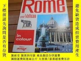 二手書博民逛書店ROME罕見AND VATICAN 羅馬,梵蒂岡Y20470 L