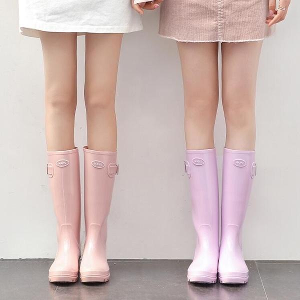 糖果色可愛雨靴防滑女時尚高筒水靴水鞋【雲木雜貨】