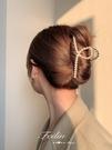 頭髮夾子頭飾珍珠抓髮夾后腦勺女髮卡抓夾大號韓國氣質網紅鯊魚夾 小天使 618