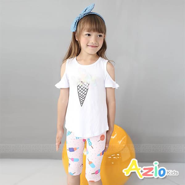 童裝 內搭褲 冰棒糖果點點棉質內搭短褲(共2色) Azio Kids 美國派 童裝