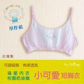 6611奶油獅細肩運動風胸衣/短版胸衣/小可愛型細肩/台灣製造【福星內衣】