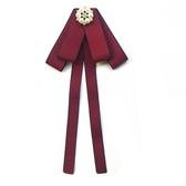 黑色絲絨領結女學院風襯衫蝴蝶結女士職業領花領口裝飾配飾時百搭 蘑菇街小屋