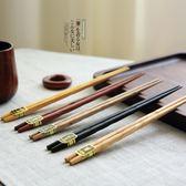 【春季上新】 日式餐具原木五色家用木筷子套裝
