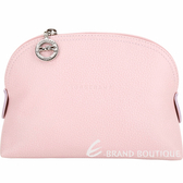 LONGCHAMP Le Foulonne 荔紋牛皮手拿/化妝包(淡粉色) 1840680-05