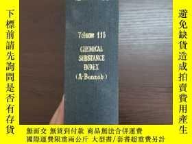 二手書博民逛書店CHEMICAL罕見ABSTRACTS Vol.115 CHEMICAL SUBSTANCE INDEX(A-Be