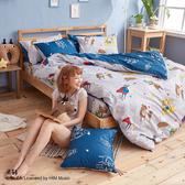 床包兩用被組 / 雙人【迷路的床邊故事-兩色可選】含兩件枕套  100%精梳棉  戀家小舖台灣製AAL215