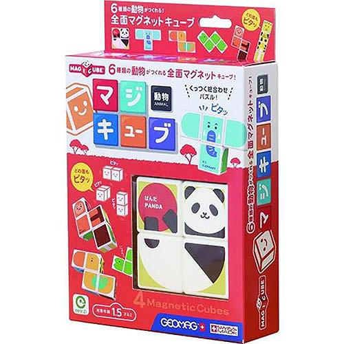 《 日本 EyeUp 》六面磁力拼圖(動物)╭★ JOYBUS玩具百貨