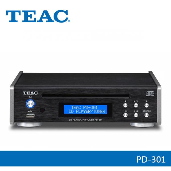 【結帳再折扣+24期0利率】TEAC PD-301 CD 播放機 / 內建FM調頻播放機 公司貨