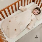 嬰兒睡袋寶寶蘑菇嬰幼兒童彩棉防踢被子新生兒【愛物及屋】