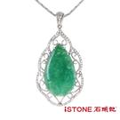 台灣藍寶項鍊-典雅柔情-唯一精品 石頭記