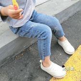 (中秋烤肉鉅惠)女童牛仔褲春秋新品正韓女童牛仔褲寶寶兒童長褲小童小腳褲女