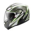 【東門城】ZEUS ZS3300 GG27(白綠) 可掀式安全帽 雙鏡片