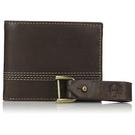 Timberland - 皮革雙折錢包/鑰匙鏈禮品套(棕色)
