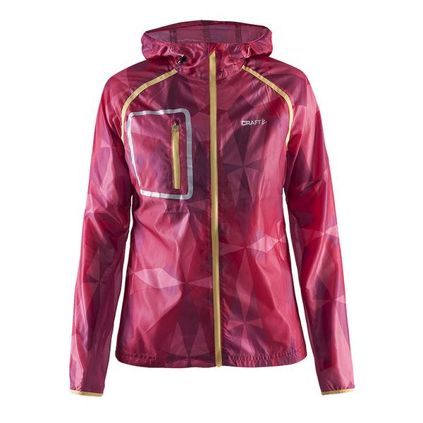 【速捷戶外】瑞典Craft 1903199 輕量網格防潑水風衣外套(女)桃彩印, 跑步 單車 野跑 馬拉松 夜跑