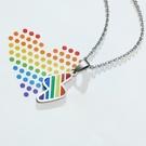 閃電彩虹項鍊 情侶項鍊 對鍊 鈦鋼 同性 和平 沂軒精品 F0151