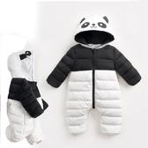 熊貓鋪棉長褲連帽包屁衣 新生兒 嬰兒 連身 包屁衣聖誕 橘魔法 Baby magic 現貨