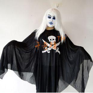 萬聖節服裝 海盜鬼衣服鐮刀+白發魔女(面具兩款隨機)