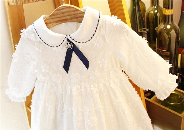 女童禮服2020春季女童韓國風蕾絲連衣裙周歲寶寶小香風裙子嬰兒禮服裙 嬡孕哺