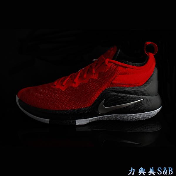 NIKE 男籃球鞋 LEBRON WITNESS II EP 鞋底耐磨性優 避震性佳 紅色鞋面+黑灰色中底  【7588】