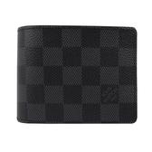Louis Vuitton LV N63261 黑棋盤格紋多卡雙折短夾 全新 預購【茱麗葉精品】