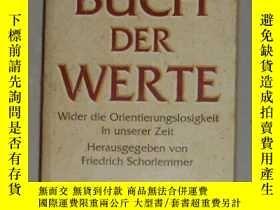 二手書博民逛書店德語原版罕見Das Buch der Werte von Fri