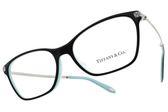 Tiffany&CO.光學眼鏡 TF2158BF 8055 (黑-銀) 閃亮浪漫魅力款 眼鏡框 # 金橘眼鏡