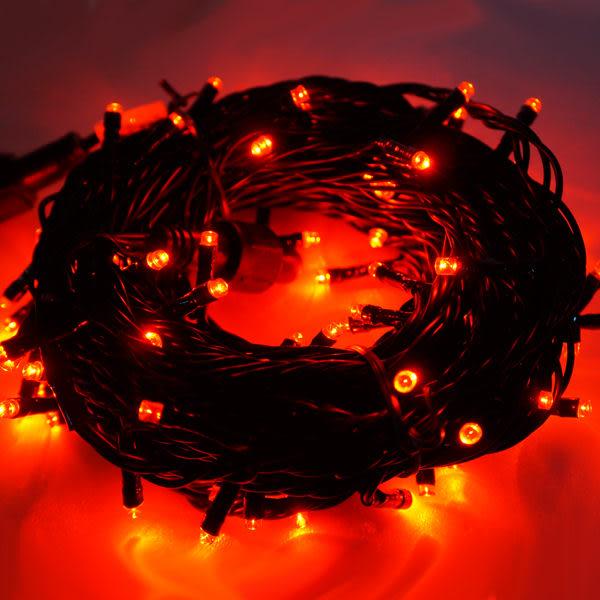 100燈LED燈串聖誕燈 (紅光黑線)(附控制器跳機)(高亮度又省電)