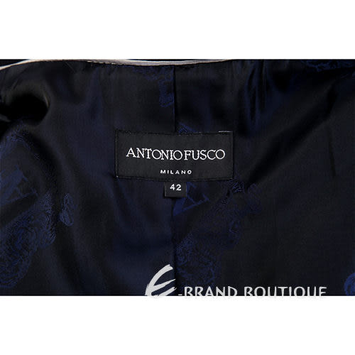 ANTONIO FUSCO 深藍色三釦式大衣 0940334-34