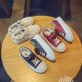 英倫風兒童板鞋魔術貼男童女童鞋子休閒運動鞋小皮鞋『夢娜麗莎』