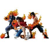海贼王 2代火焰攻擊三兄弟 艾斯 魯夫 薩博 手辦港版