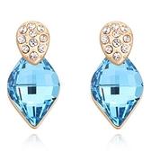 水晶耳環 925純銀(耳針式)-精緻鑲鑽生日情人節禮物女飾品4色73bd140【時尚巴黎】