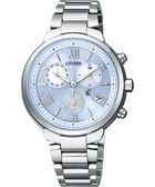 【送米奇電扇】台灣限定 CITIZEN xC 浪漫城市鈦金屬光動能計時腕錶-藍x銀/35mm FB1330-55L