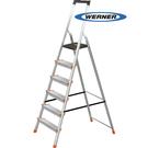 美國Werner穩耐安全梯-L236R-2 鋁合金寬踏板6階梯   大平台 鋁梯 A字梯 梯子