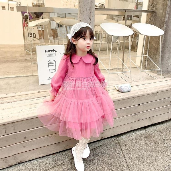 女童洋裝秋裝2020新款韓版兒童裙子春秋款洋氣長袖學院風公主裙 設計師生活百貨