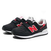 NEW BALANCE 童鞋 NB313 黑紅 魔鬼氈 運動鞋 中童 (布魯克林) PO313CR