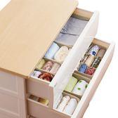 收納盒 日本天馬整理箱布藝抽屜式分格組合家用裝文胸內褲襪子內衣收納盒  萌萌