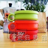 韓國進口idea旅行折疊水杯創意硅膠伸縮杯戶外便攜折疊杯漱口杯子 小時光生活館
