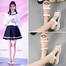 2021年新款涼鞋女學生百搭仙女風平底鞋時尚韓版高初中生夏季少女 黛尼時尚精品