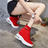 MG 內增高鞋彈力襪子鞋女韓版老爹高幫內增高女鞋